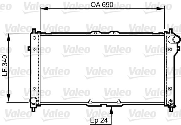 Radiateur, refroidissement du moteur - VALEO - 731466