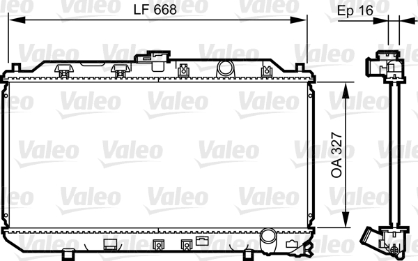 Radiateur, refroidissement du moteur - VALEO - 731467