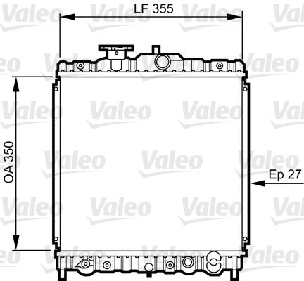 Radiateur, refroidissement du moteur - VALEO - 731469