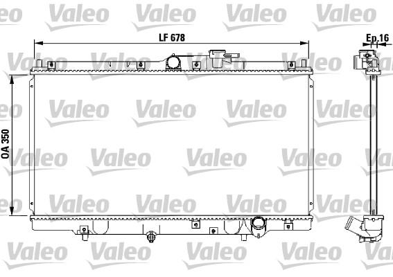 Radiateur, refroidissement du moteur - VALEO - 731471