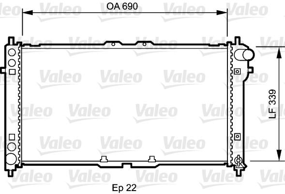 Radiateur, refroidissement du moteur - VALEO - 731472
