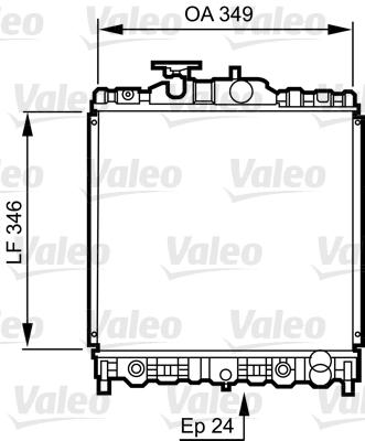 Radiateur, refroidissement du moteur - VALEO - 731473