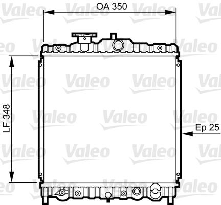 Radiateur, refroidissement du moteur - VALEO - 731474