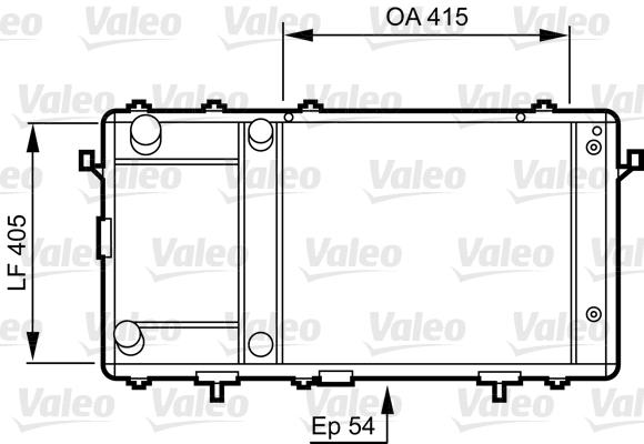 Radiateur, refroidissement du moteur - VALEO - 731491
