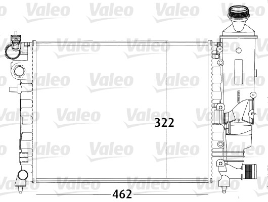 Radiateur, refroidissement du moteur - VALEO - 731498