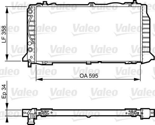 Radiateur, refroidissement du moteur - VALEO - 731501
