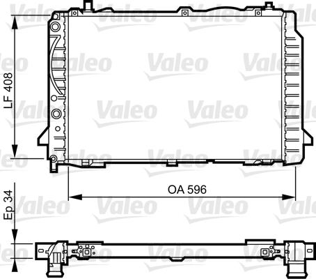 Radiateur, refroidissement du moteur - VALEO - 731503