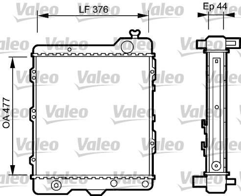 Radiateur, refroidissement du moteur - VALEO - 731505