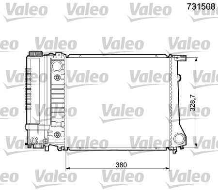 Radiateur, refroidissement du moteur - VALEO - 731508