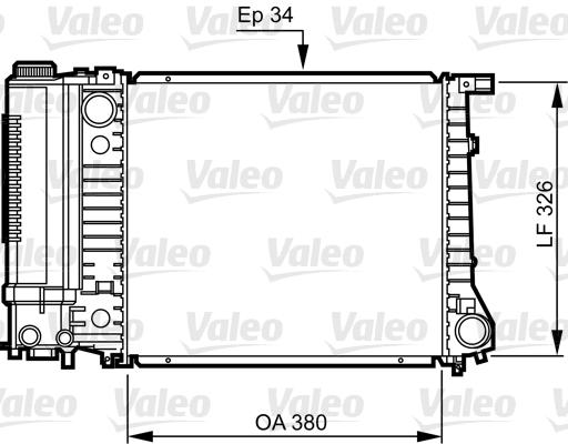 Radiateur, refroidissement du moteur - VALEO - 731509