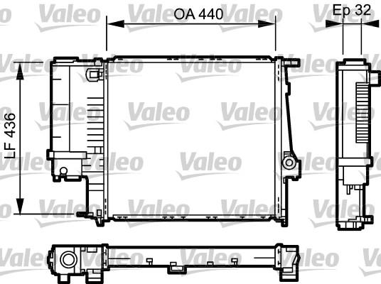 Radiateur, refroidissement du moteur - VALEO - 731511