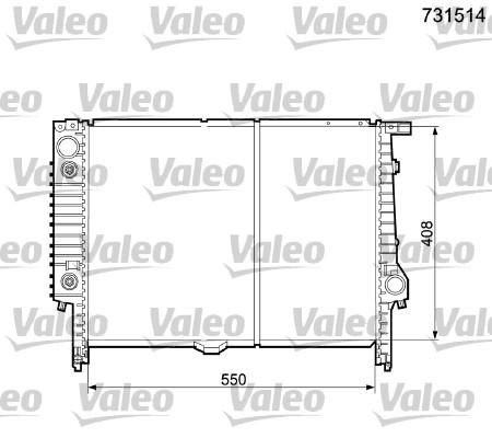 Radiateur, refroidissement du moteur - VALEO - 731514