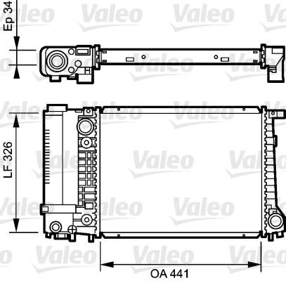 Radiateur, refroidissement du moteur - VALEO - 731520