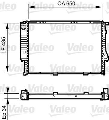 Radiateur, refroidissement du moteur - VALEO - 731523