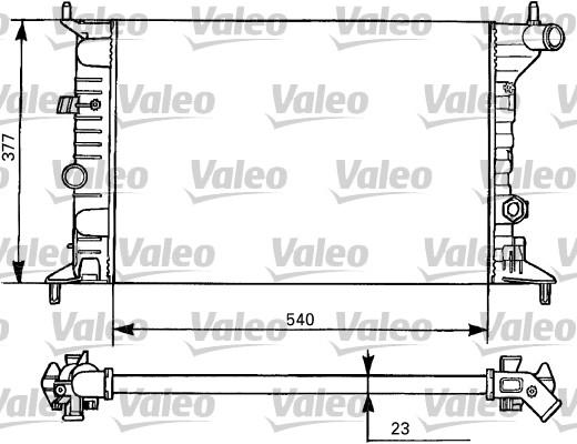 Radiateur, refroidissement du moteur - VALEO - 731525
