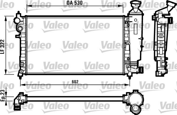 Radiateur, refroidissement du moteur - VALEO - 731526