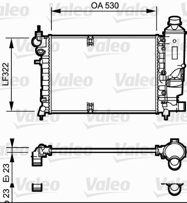 Radiateur, refroidissement du moteur - VALEO - 731527