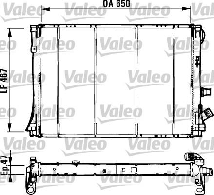 Radiateur, refroidissement du moteur - VALEO - 731529