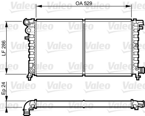 Radiateur, refroidissement du moteur - VALEO - 731530