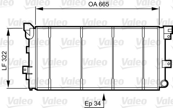 Radiateur, refroidissement du moteur - VALEO - 731531