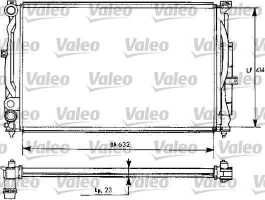 Radiateur, refroidissement du moteur - VALEO - 731537