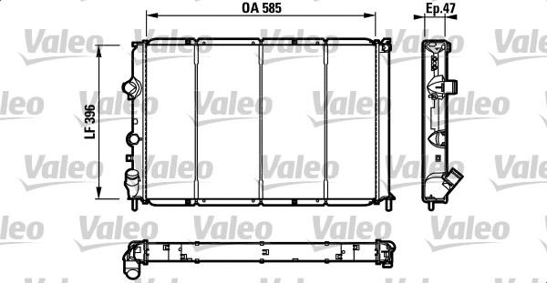 Radiateur, refroidissement du moteur - VALEO - 731538