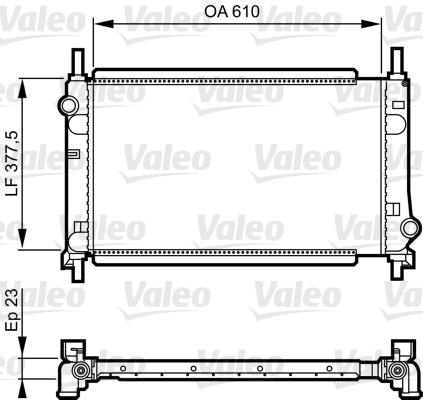 Radiateur, refroidissement du moteur - VALEO - 731550