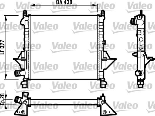 Radiateur, refroidissement du moteur - VALEO - 731552