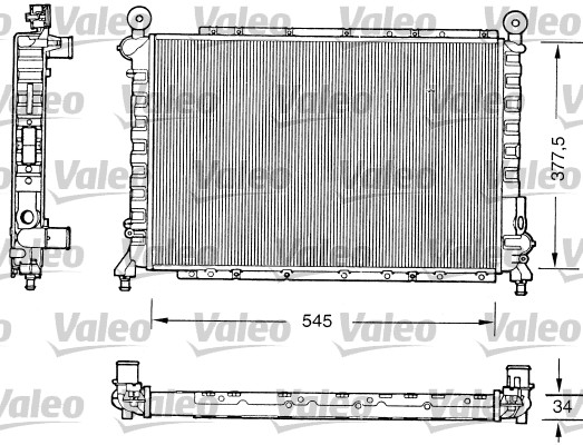 Radiateur, refroidissement du moteur - VALEO - 731559