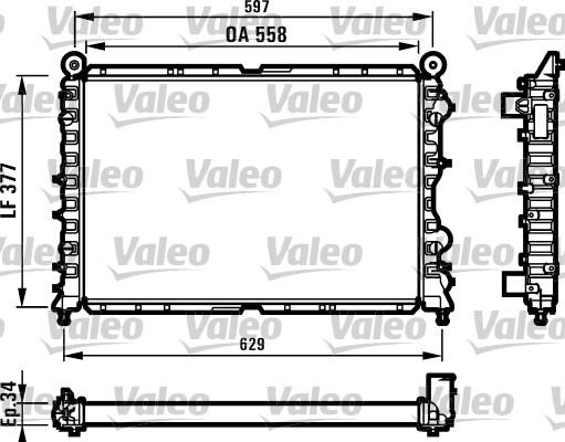 Radiateur, refroidissement du moteur - VALEO - 731561