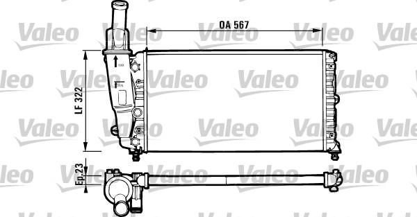 Radiateur, refroidissement du moteur - VALEO - 731562