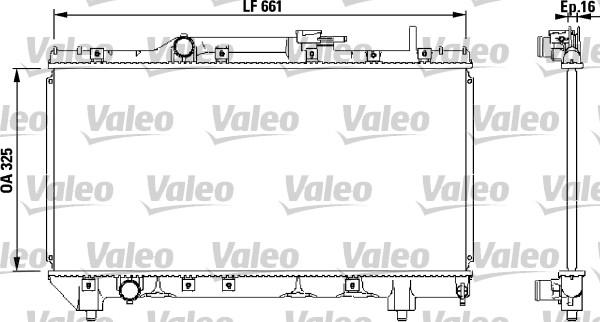 Radiateur, refroidissement du moteur - VALEO - 731565