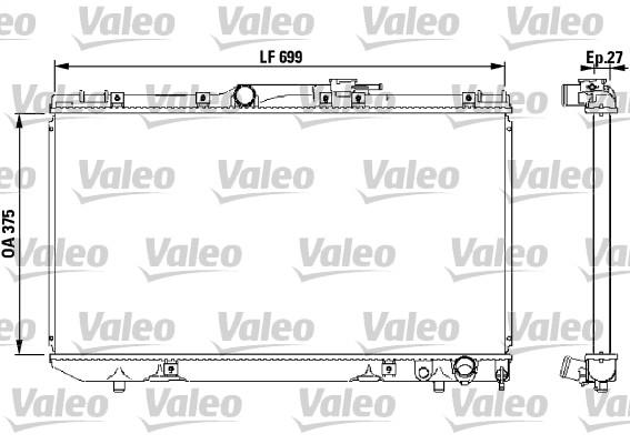 Radiateur, refroidissement du moteur - VALEO - 731569