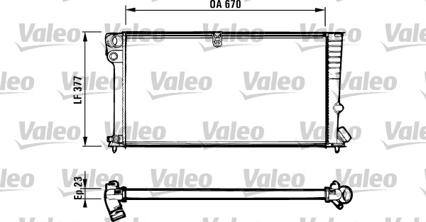 Radiateur, refroidissement du moteur - VALEO - 731570