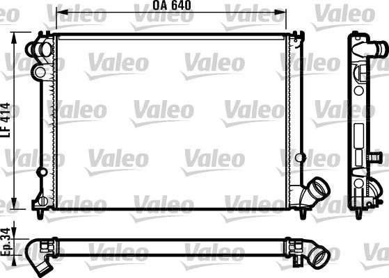 Radiateur, refroidissement du moteur - VALEO - 731575