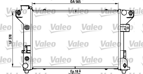 Radiateur, refroidissement du moteur - VALEO - 731578