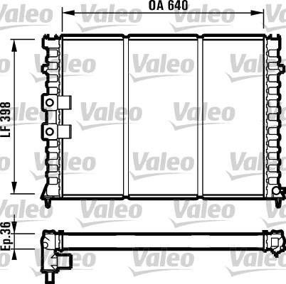 Radiateur, refroidissement du moteur - VALEO - 731586