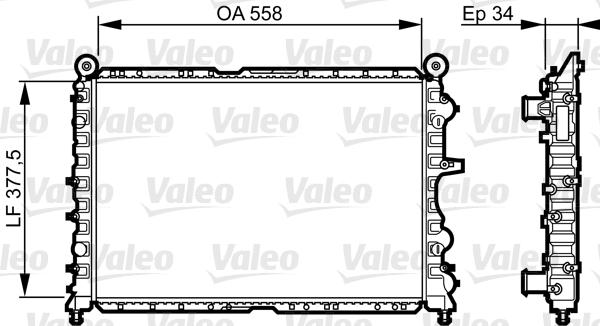 Radiateur, refroidissement du moteur - VALEO - 731592
