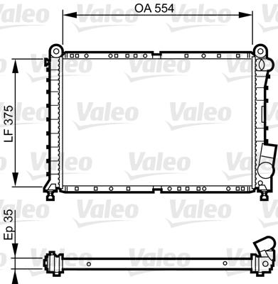Radiateur, refroidissement du moteur - VALEO - 731593