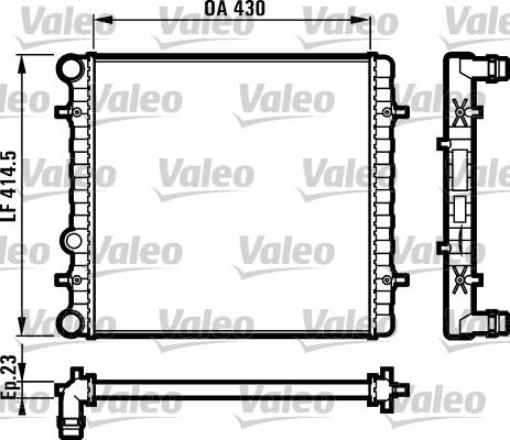Radiateur, refroidissement du moteur - VALEO - 731607