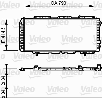 Radiateur, refroidissement du moteur - VALEO - 731611
