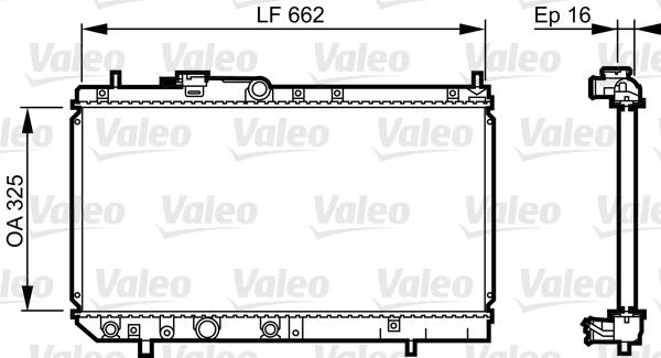 Radiateur, refroidissement du moteur - VALEO - 731620