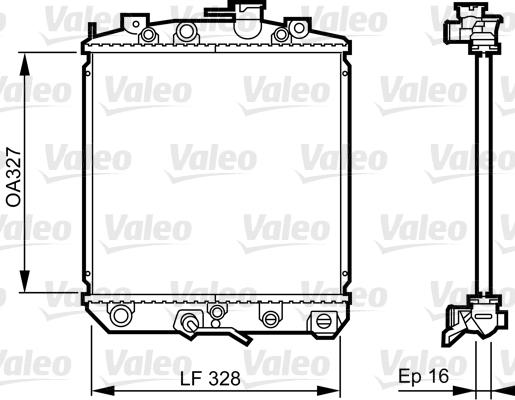 Radiateur, refroidissement du moteur - VALEO - 731623