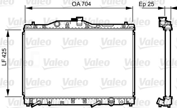 Radiateur, refroidissement du moteur - VALEO - 731629