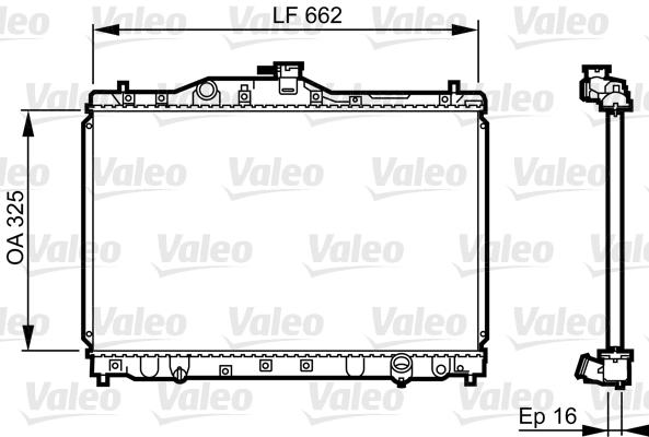 Radiateur, refroidissement du moteur - VALEO - 731630
