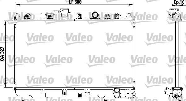 Radiateur, refroidissement du moteur - VALEO - 731634