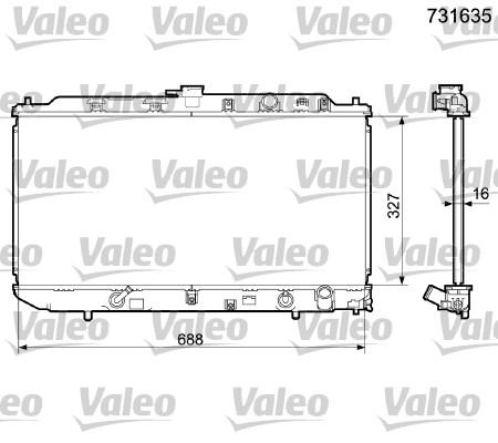 Radiateur, refroidissement du moteur - VALEO - 731635