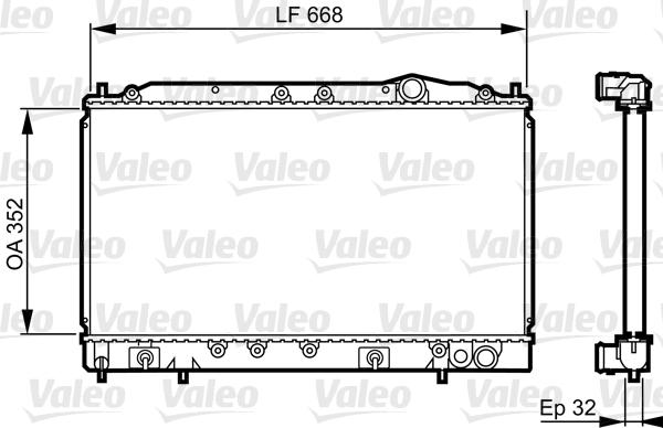 Radiateur, refroidissement du moteur - VALEO - 731638