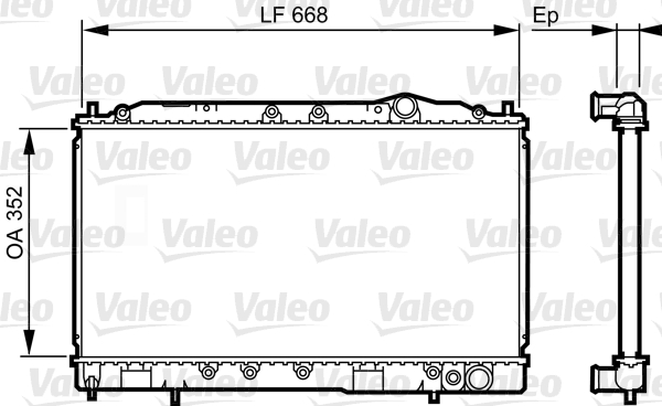 Radiateur, refroidissement du moteur - VALEO - 731639