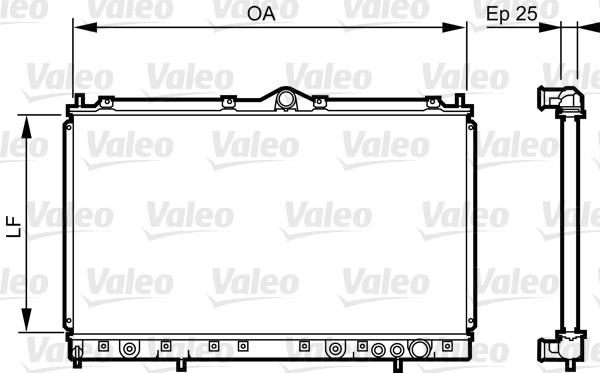 Radiateur, refroidissement du moteur - VALEO - 731640